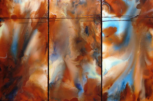 Sue Favinger Smith - Elements Triptych, oil painting