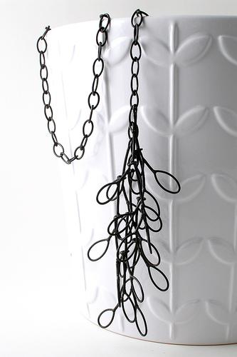 'Long Leaf Necklace' - Steel jewellery by Megan Auman